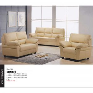 Amy Living Room Sofa Set Faux Leather