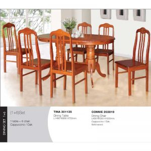Tina-Oak-Connie Dining Set