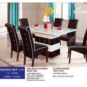 Delmalcus Mar -Clara Dining Set