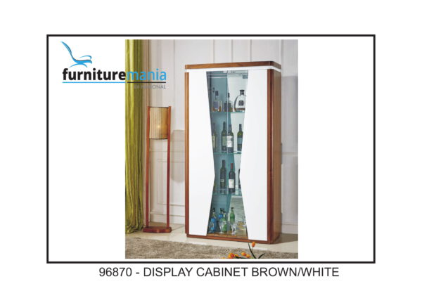 Display Cabinet Brown/White-96870