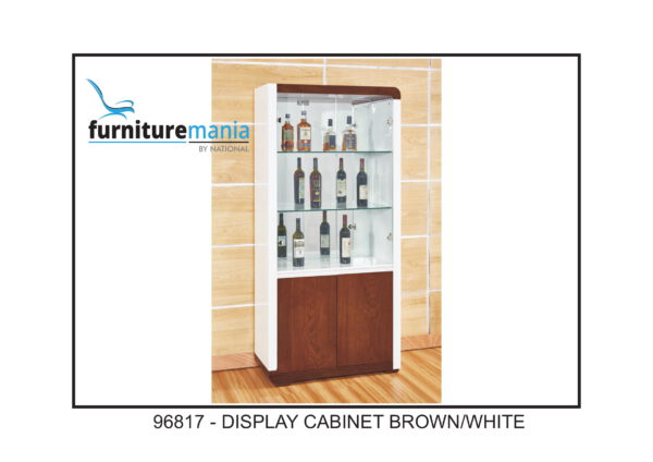 Display Cabinet Brown/White-96817