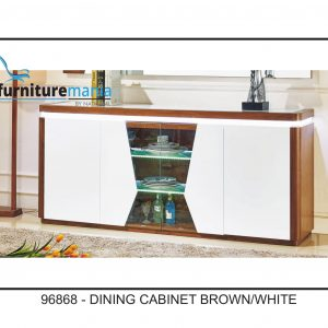 Dining Cabinet Brown/White-96868