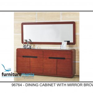 Dining Cabinet With Mirror Brown-96764