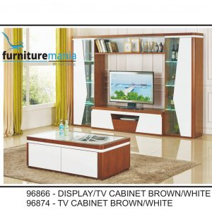 Display/TV Cabinet Brown/White-96866/96874