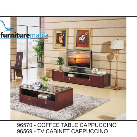 Coffee Table/TV Cabinet Cappuccino-96570/96569