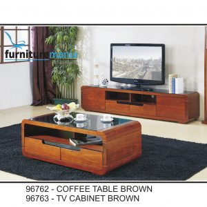 Coffee Table/TV Cabinet Brown-96762/96763