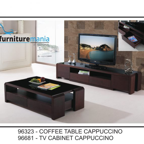 Coffee Table/TV Cabinet Cappuccino-96323/96681