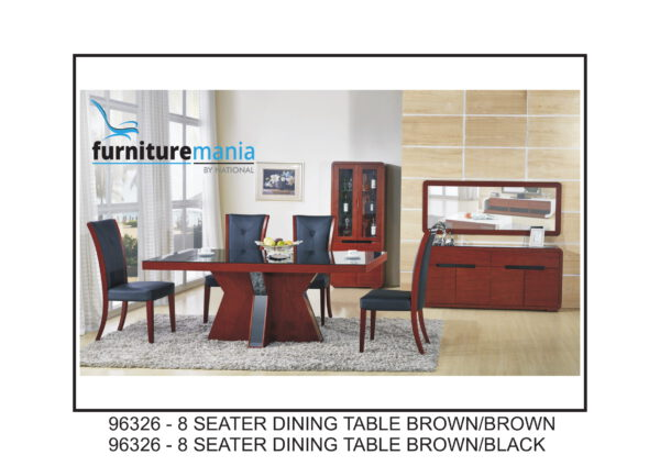 8 Seater Dining Table Brown/Black- 96326