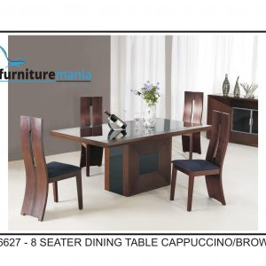 8 Seater Dining Table Cappuccino/Brown-96627
