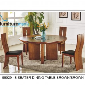8 Seater Dining Table Brown/Brown