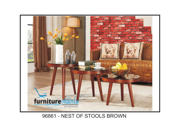 Nest Of Stools Brown-96861