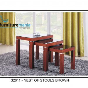 Nest Of Stools Brown-32011